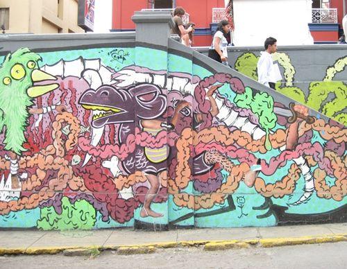 Monsters, seen on Avenida Larco in Miraflores